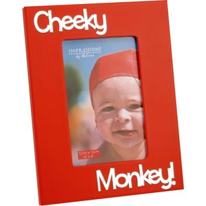 "Juliana Impressions Red Photo Frame with 3D Letters 6"" x 4"" - Cheeky Monkey"