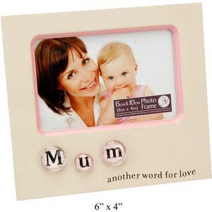 """Mum Bubble Tile Photo Frame 6x4"""""""