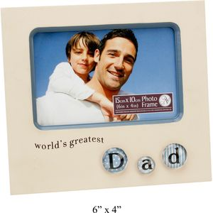 Worlds Greatest Dad Bubble Tile Photo Frame 6x4""
