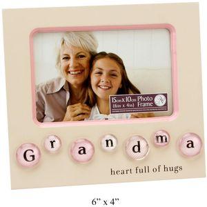 "Grandma Bubble Tile Photo Frame 6x4"""