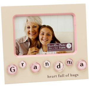 "New View Bubble Tile Photo Frame 6x4"" - Grandma"