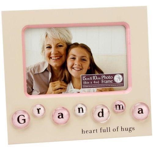 "New View BubbleTile Photo Frame 6"" x 4"" - Grandma"