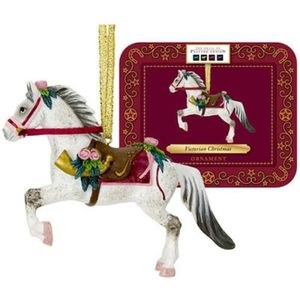 Victorian Christmas Hanging Ornament - Painted Ponies