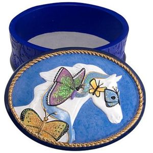 Earth Angels Keepsake Trinket Box - Painted Ponies