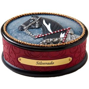 The Trail of Painted Ponies Keepsake Trinket Box - Silverado