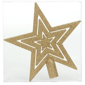 Glitter Christmas Tree Top Star - Gold