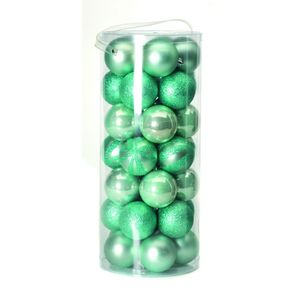 Christmas Tree Baubles - Pale Green Pack of 35 Assorted
