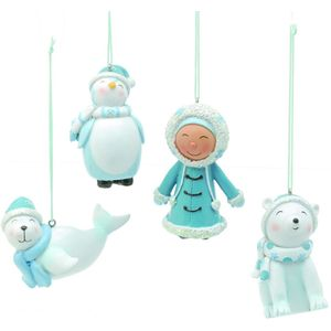 Christmas Tree Hanging Decorations - Arctic Ice Characters (L) Pack of 4 Asstd
