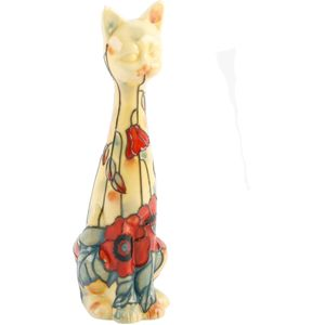 Old Tupton Ware Yellow Poppy Collection - Cat Figurine