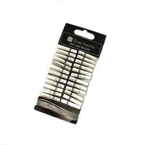 Christmas Card Holder - Peg Clip Design (Silver)