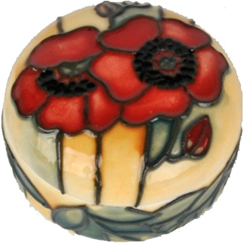 Old Tupton Ware Yellow Poppy  Collection - Hinged Trinket Box