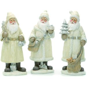 Christmas Decoration - Santa Figurine Set of 3 Assorted