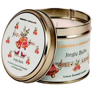 Jingle Bells Large Roomscenter Candle in Tin