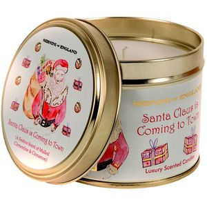 Large Roomscenter Candle in Tin - Santa Claus