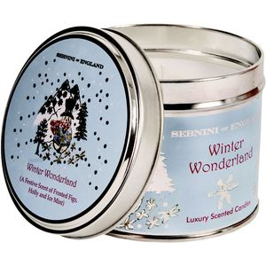 Winter Wonderland Large Roomscenter Candle in Tin