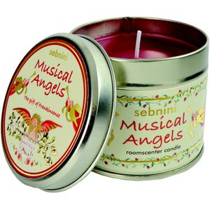 Musical Angels Roomscenter Candle in Tin