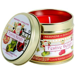 Festive Delight Roomscenter Candle in Tin