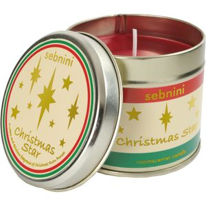 Christmas Stars Roomscenter Candle in Tin