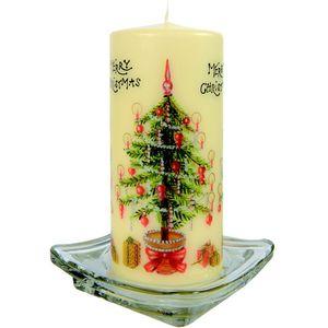 Merry Christmas Pillar Candle