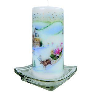 Christmas Pillar Candle - Traditional