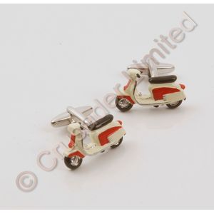 Lambretta Cufflinks (Red)