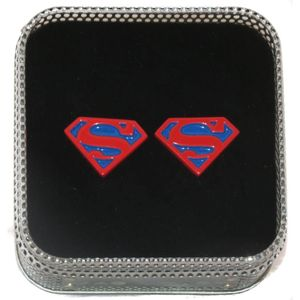 Superman Logo Cufflinks - Blue & Red