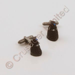 Dr Who Cufflinks 3D Rubber Dalek