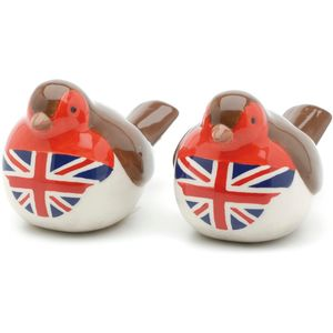 Robin with Union Jack Breast - Salt & Pepper Set