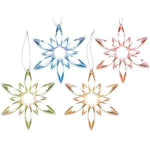 Set of 4 Flower Petals Snowflake Tree Decorations