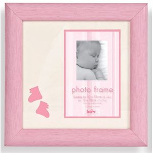 Baby Girl Pink Photo Frame 4x6""