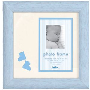 "Baby Brights Baby Boy Photo Frame 4x6"" - Blue"