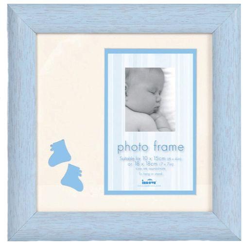 "Baby Brights Baby Boy Photo Frame 4x6"" - Blue Baby Boy Photo Frame 4x6"" - Blue"
