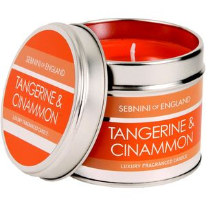 Sebnini Roomscenter Candle Tin - Tangerine & Cinnamon