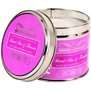 Large Roomscenter Candle in Tin - Sweet Pea & Freesia