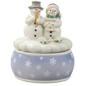 Goebel Snowmen Musical Figurine - White Minstrels Music Box