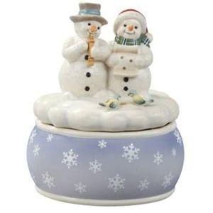 White Minstrels Snowmen Musical Figurine
