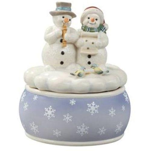 White Minstrels Snowmen Musical Figurine Christmas Decoration Ornament