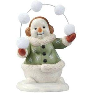 Snowman Juggling Snowballs Figurine