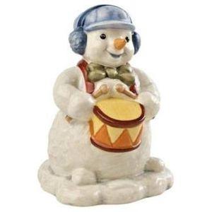 Little Drummer Boy Snowman Figurine