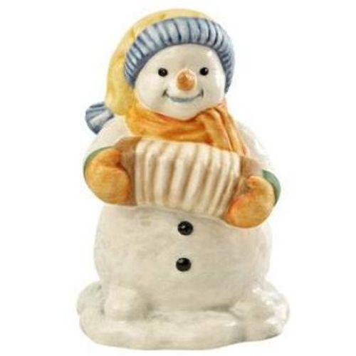 Goebel Little Accordion Player Snowman Figurine