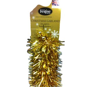 Christmas Garland Tinsel - Gold Pack of 2 2M Length