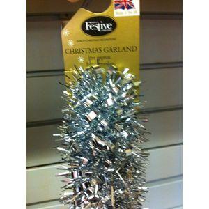 Christmas Garland Tinsel - Silver 2X2m