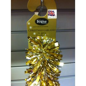 Christmas Garland Tinsel 2x2M - Gold & Silver