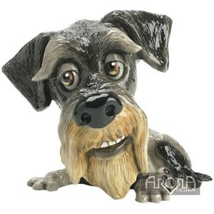 Little Paws Zak Schnauzer Dog Figurine