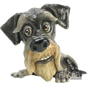 Little Paws Zak the Schnauzer Dog Figurine