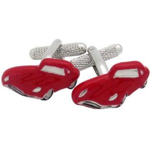 Red E Type Classic Car Cufflinks