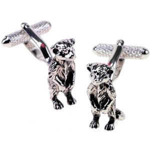 Meerkat Cufflinks - Silver Finish