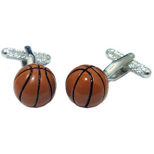 pair of basket ball novelty cufflinks