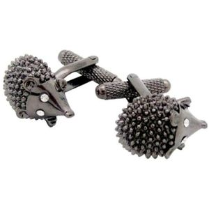 Hedgehog with Crystal Eyes Cufflinks