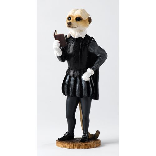 Country Artists Magnificent Meerkats William Shakespeare  Figurine Gift  Ref. CA04150